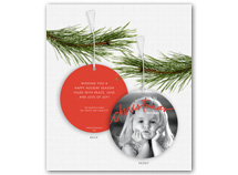 """christmas wishes"" Photo Ornament Holiday Cards"