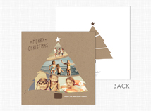 Christmas Tree Flat 3-Photo Cards