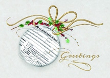 Tidings Due Accountant Holiday Cards